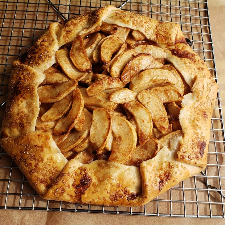 apple galette without ice cream or caramel