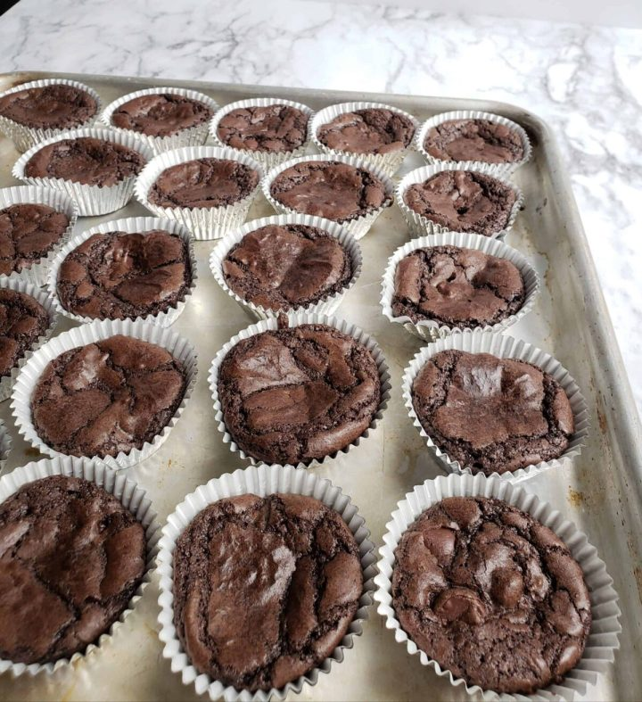 brownies baked in foil muffin cups