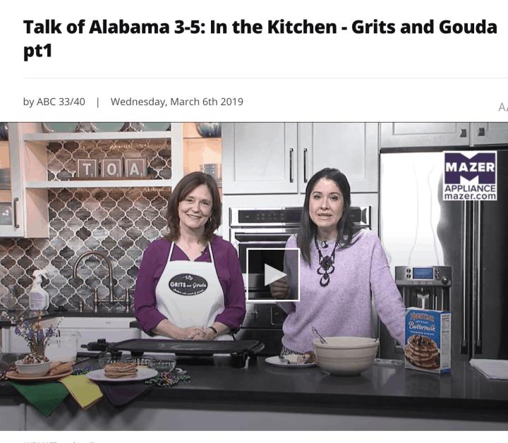 Making King Cake Pancakes with Nicole Allshouse on Talk of Alabama on Fat Tuesday