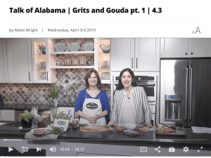 two ladies in tv studio cooking with fresh herbs