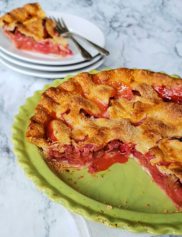 Shortcut Strawberry Rhubarb Pie. Unless you want to serve it like a cobbler, it is best to let it come to room temperature before slicing it.