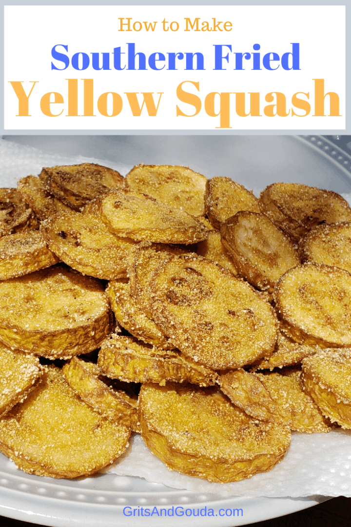 Southern Fried Yellow Squash Pinterest pin