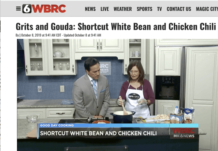 Kathleen Phillips and Mike Dubberly make White Bean and Chicken Chili
