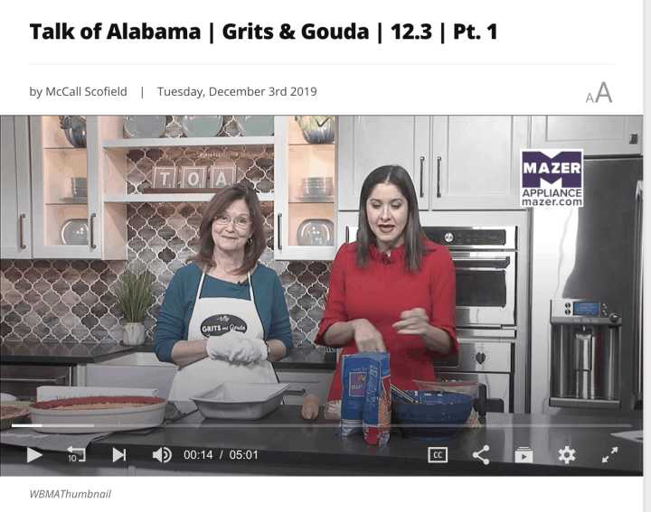 two ladies on tv kitchen set