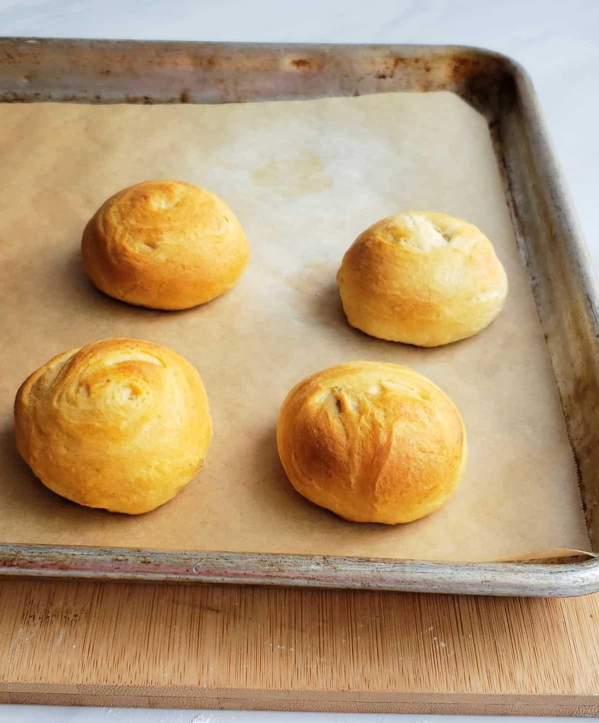 Baked fried Oreos on sheet pan