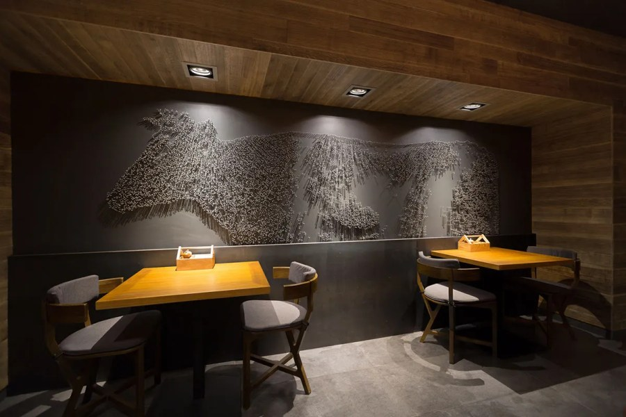 The Village restaurant interior design   Grits   Grids The Village restaurant interior design