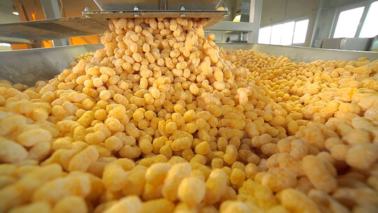Process production of corn sticks