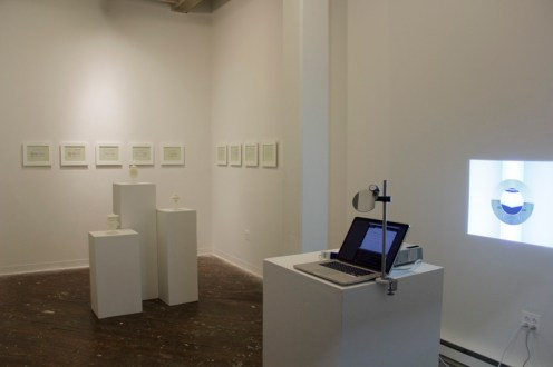 "Exhibition Overview, ""Raw Material"" Laura Splan and Gail Wight"