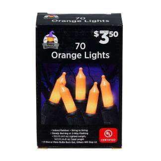 70 orange string lights