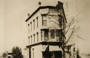 Once the Creston branch of Old Kent bank, then a library, now Red Ball Jet. Photo credit: http://www.thegilmorecollection.com/redjet-history.php