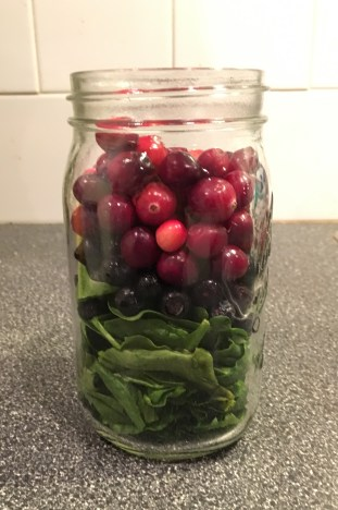 spinach blueberry and cranberry smoothies