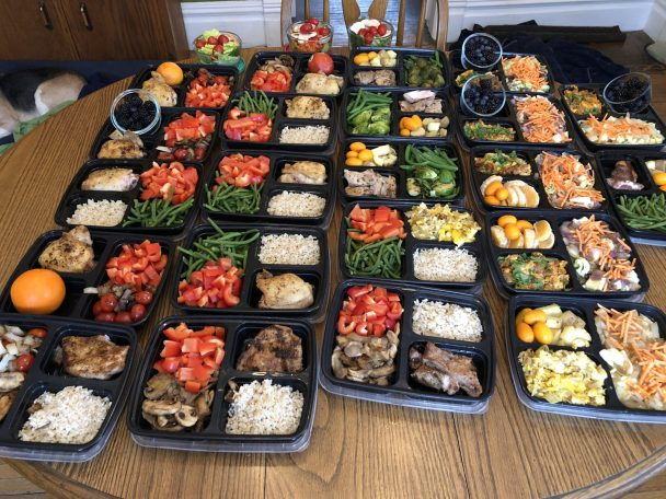 meal prep making a week's worth of meals in one day