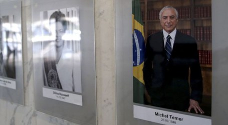 Foto de Temer na galeria de presidentes da República