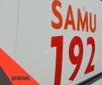 Após ser esfaqueado, homem é socorrido pelo SAMU em Itaúna
