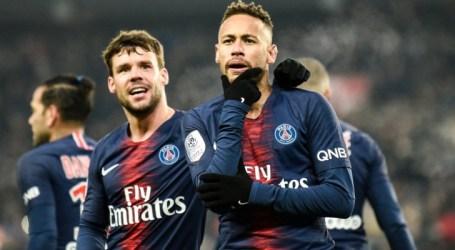 Neymar marca duas vezes em goleada histórica do PSG