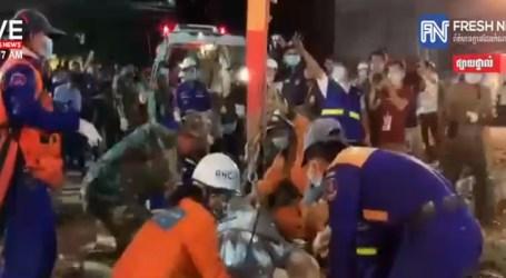 Prédio desmorona no Camboja, mata 18 operários e 24 ficam feridos