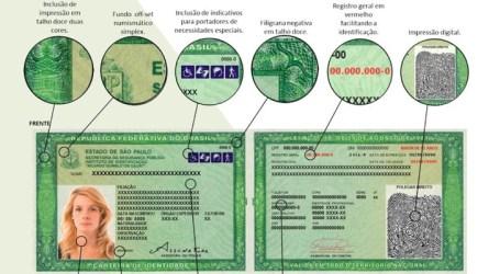 Nova carteira de identidade começa a ser emitida em São Paulo