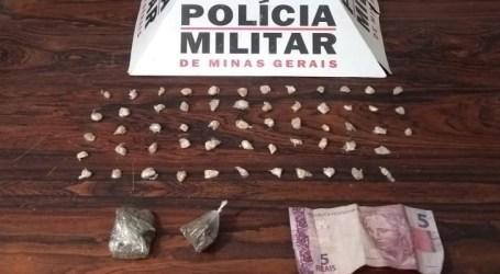 Detido com quase 60 pedras de crack e maconha em Divinópolis