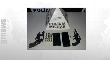 Trio preso com armas e celulares roubados em Nova Serrana