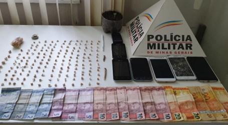 Trio detido com grande quantidade de drogas em Carmo do Cajuru