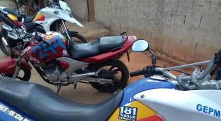 Apreendida em Papagaios moto suspeita de ser usada em crimes, mas condutor escapou dos militares