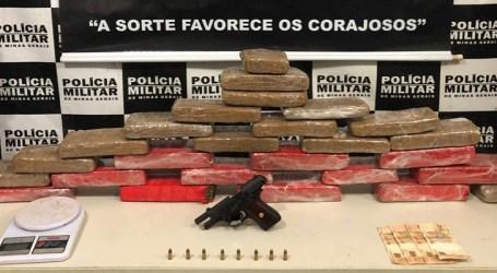 Dupla é presa com 40 kg de maconha e pistola em Divinópolis, após denúncia anônima
