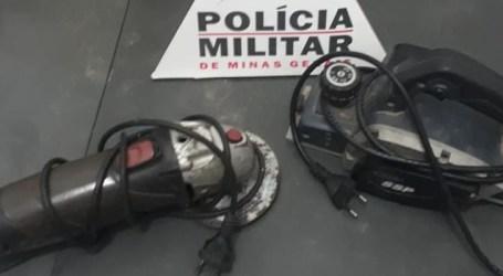 PM recupera materiais furtados e prende autor em Bom Despacho