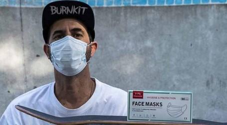 Instituto de Bob Burnquist faz doação de máscaras a profissionais de saúde