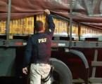 Equipe da PRF recupera carreta roubada com carga de cerveja e libera motorista sequestrado