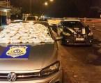 Agentes da PRF apreendem R$ 160 mil em drogas transportadas em carro roubado