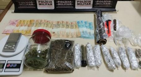 Jovem de 19 anos é preso com grande quantidade de drogas em Bom Despacho