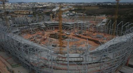 Construção da Arena MRV completa 500 dias