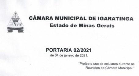 Presidente impõe censura na Câmara de Igaratinga proibindo uso de celular e outros equipamentos durante reuniões