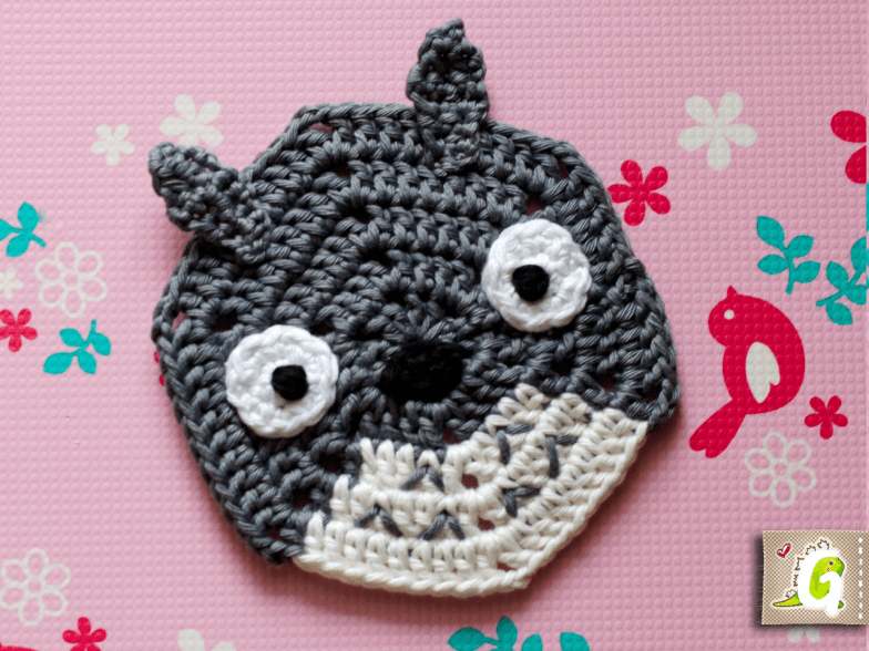 Crochet Totoro hexagon