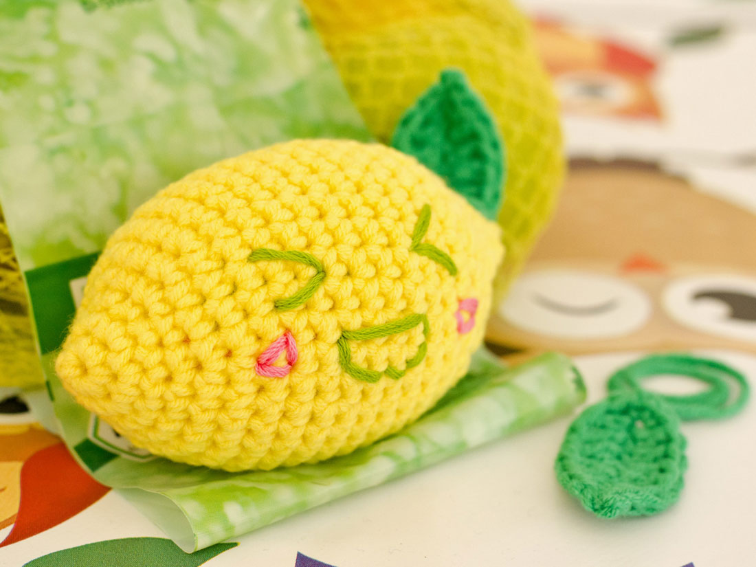 Amigurumi Lemon Pattern : GROAAAR - Funny lemon Amigurumi