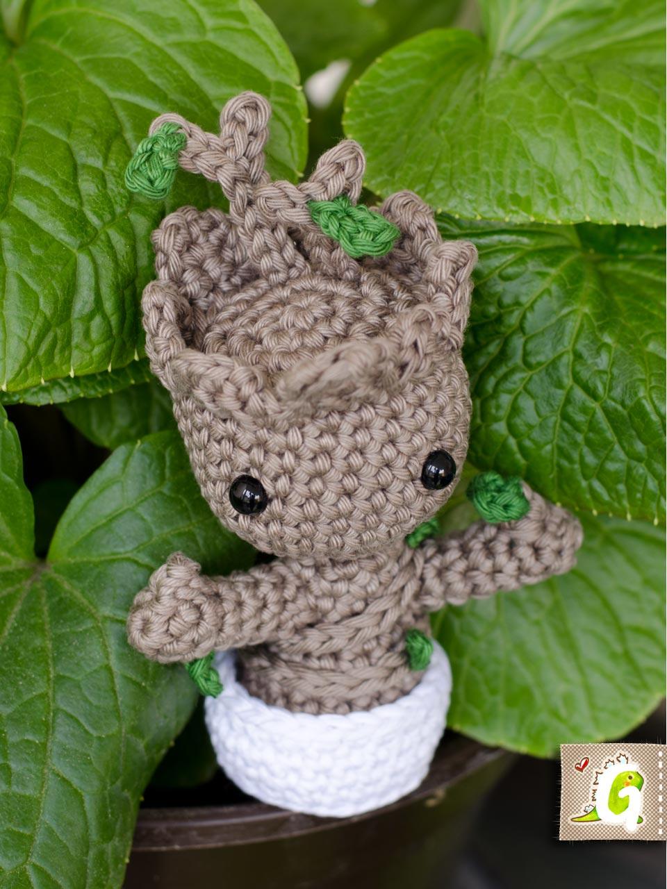 Amigurumi Patterns Groot : Twinkie chan baby groot amigurumi u groaaar by anjizilla