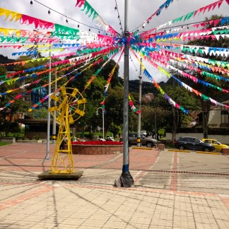 Christmas decorations in Usaquen, Bogota