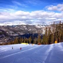 On the ski slopes in Keystone