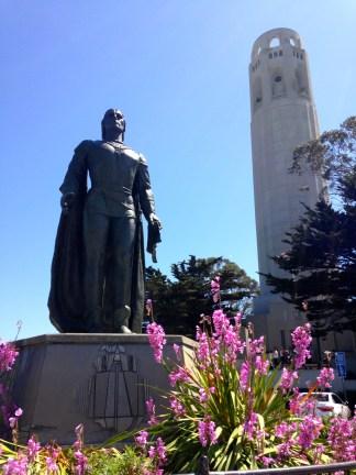 Coit tower, San Francisco walk