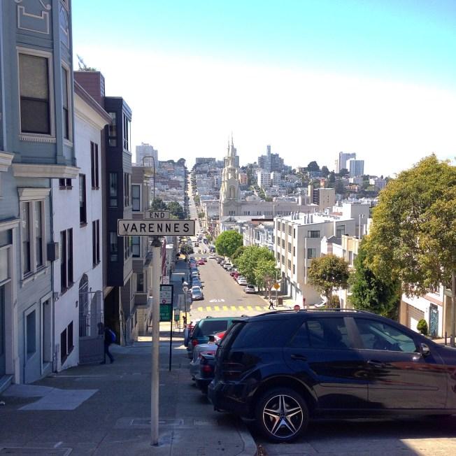 Viewpoint, San Francisco walk, Greenwich Street