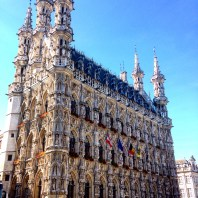 Leuven architecture, city hall, belgium