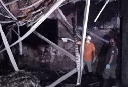 Kebakaran di Grobogan. Ruang Kepala SD N 2 Panunggalan Hangus Dilalap Api