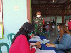 Kodim 0721/Blora Bersama PMI Gelar Donor Darah di Desa Geneng, Jepon