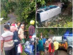 Kecelakaan Minibus Pembawa Peziarah di Matesih, Lima Penumpang Alami Luka Serius