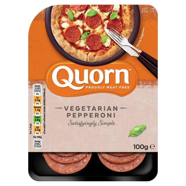 Morrisons Quorn Pepperoni Style Slices 100gProduct Information