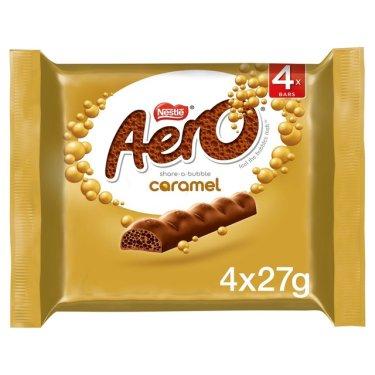 Aero Bubbly Caramel Chocolate Bar Multipack | Morrisons