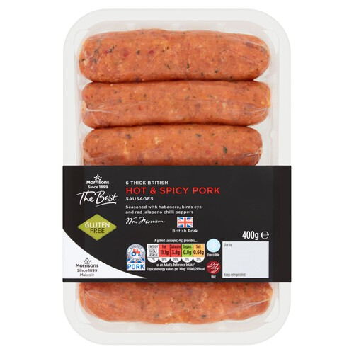 Morrisons The Best 6 Hot And Spicy Sausages