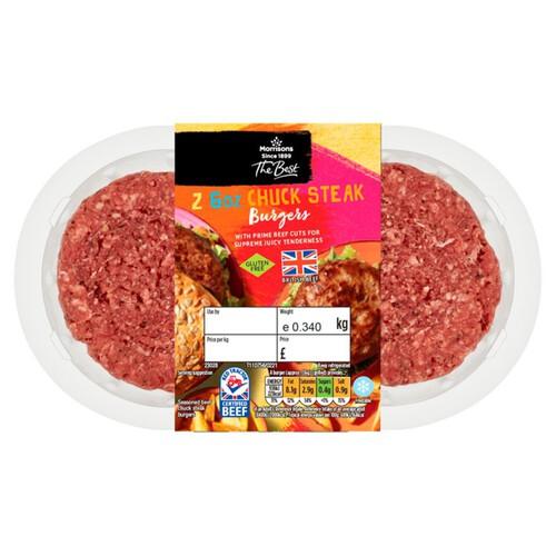Morrisons The Best 2 British Chuck Steak Burgers