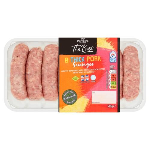 Morrisons The Best 8 Pork Sausages