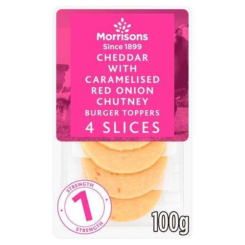 Morrisons Cheddar With Caramelised Red Onion Chutney Burger Slices